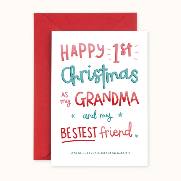 1st Christmas As My Grandma Card