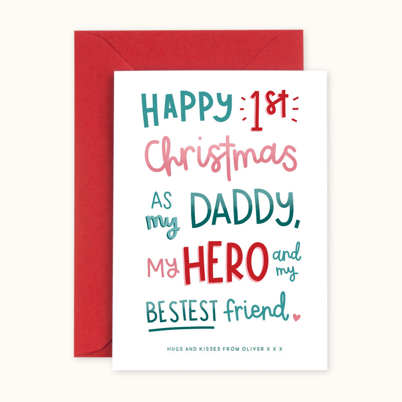 1st Christmas As My Daddy Card