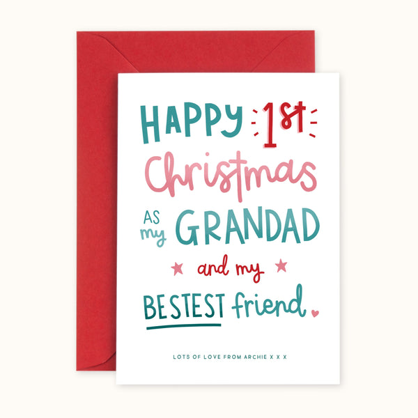 1st Christmas As My Grandad Card