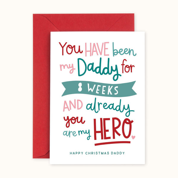 'You Are My Hero Daddy' Personalised Christmas Card