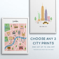 Set of Any 2 City Prints