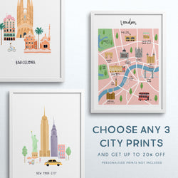 Set of Any 3 City Prints