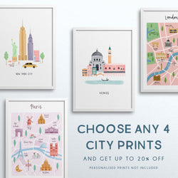 Set of Any 4 City Prints