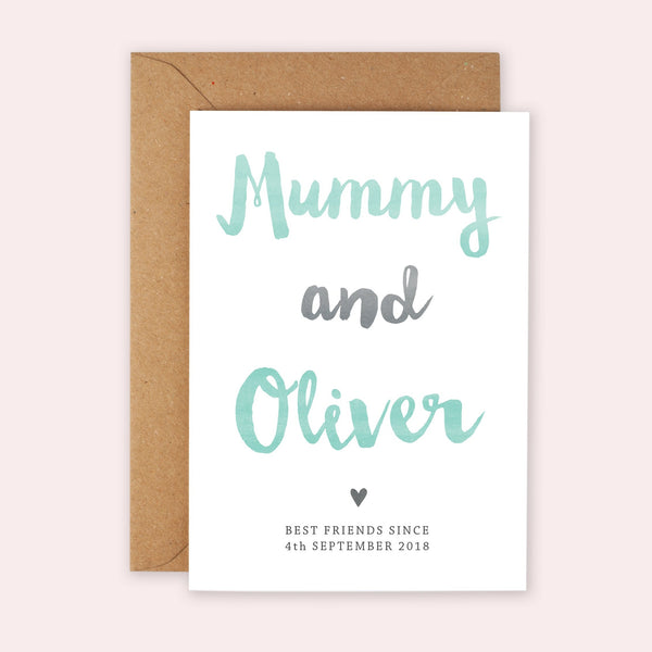 'Best Friends' Personalised Card for Mum