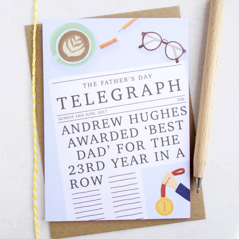 'Best Dad' Personalised Father's Day Card