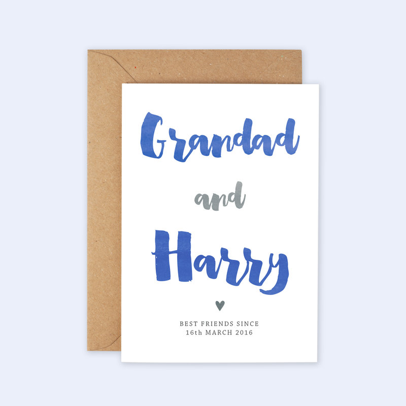 'Best Friends with Grandad' Personalised Card