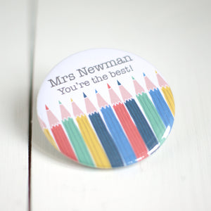 Personalised 'Best Teacher' Pocket Mirror