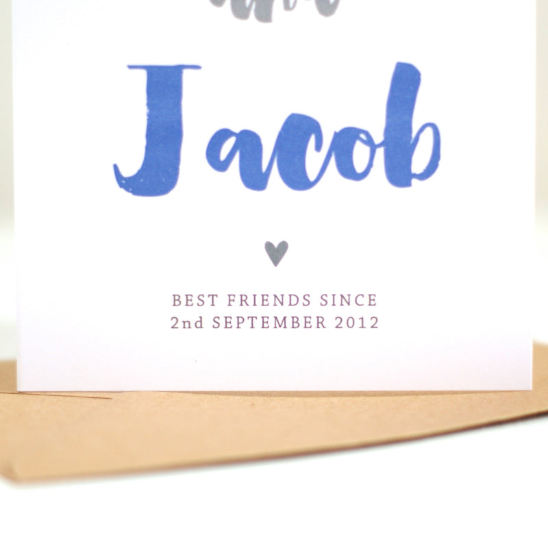 'Best friends with Daddy' Personalised Card