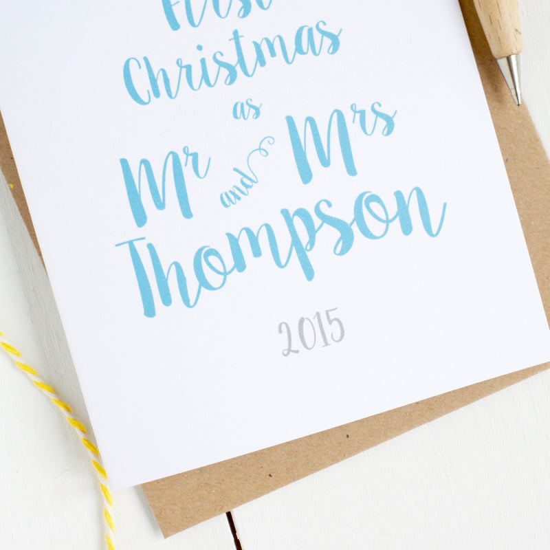 First Christmas as Newlyweds Personalised Card