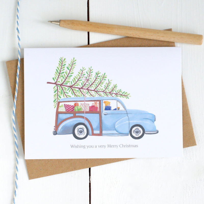 Personalised Classic Car Christmas Card