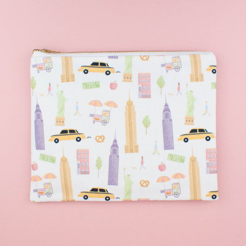 New York City Canvas Pouch