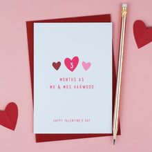 Personalised 'Mr & Mrs' Valentine's Card