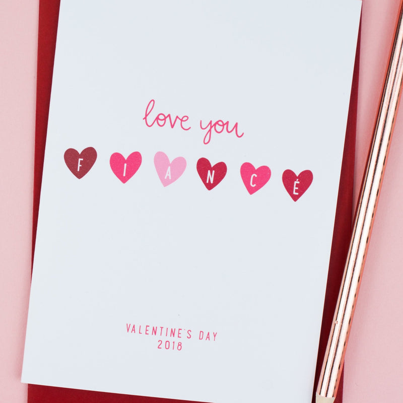'Love you Fiancé' Valentine's Card