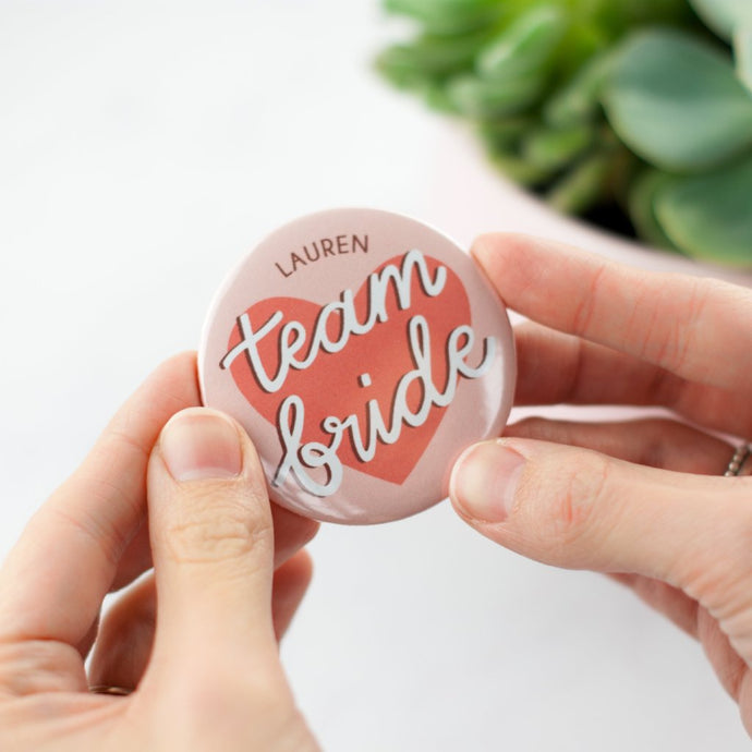 Personalised 'Team Bride' Hen Party Mirror