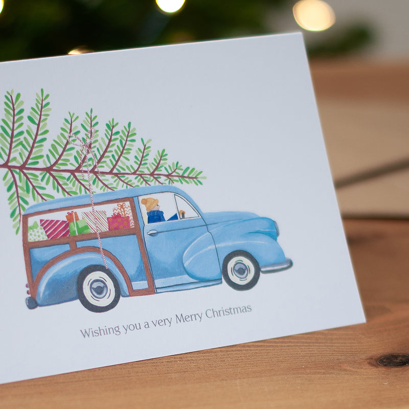 Personalised Car Christmas Card