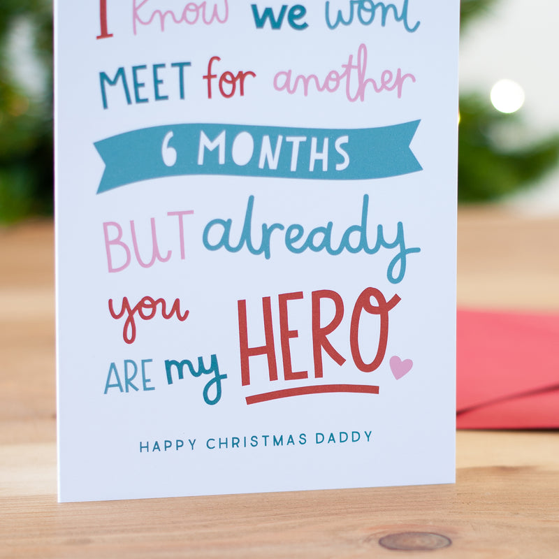 'You Are My Hero' Christmas Card from the Bump