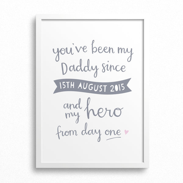 'My Hero' Personalised Print for Dad
