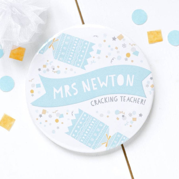 'Cracking Teacher' Pocket Mirror Gift