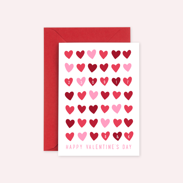 Personalised Memorable Date Valentine's Card