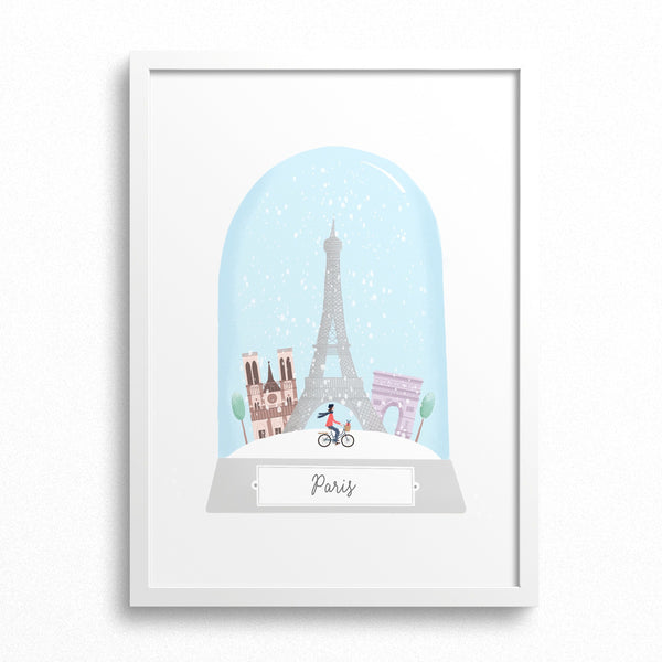 Personalised Paris Christmas Print