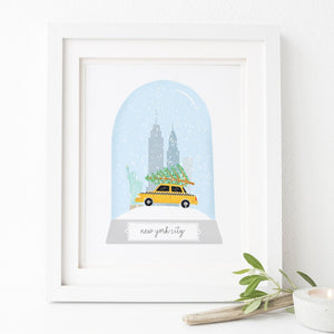 New York City Christmas Print