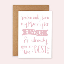 'Best Mummy' First Mother's Day Card