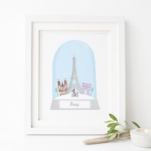 Paris Christmas City Print