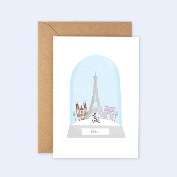 Paris City Christmas Card