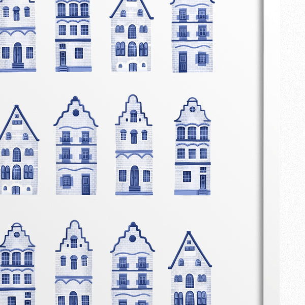 Dutch Canal Houses Print