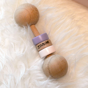 Personalized Wooden Rattle - Girls