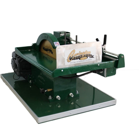 "Image of Covington Engineering Covington Engineering 10"" Trim Saw With Power Feed and Hood  - Lapidary Mart"