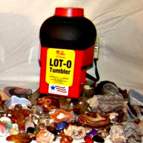 Image of Lot-O-Tumbler Lot-O-Tumbler Single Barrel Vibratory Rock Tumbler  - Lapidary Mart