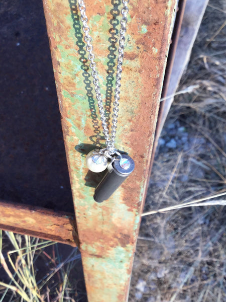 SILVER BULLET NECKLACE-LONG