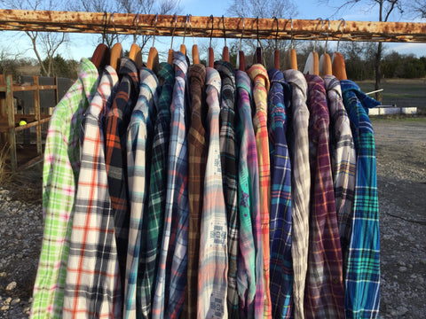 VINTAGE FLANNELS-SMALL