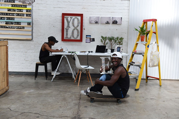 The studio at Arts On Main, <br/>Maboneng Joburg