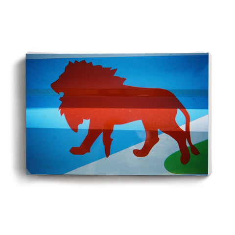 Canvas Print Lion Child