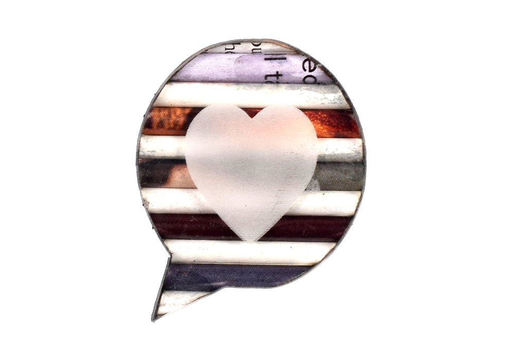 Brooch Speech Bubble - Heart | www.iiilovelocal.com