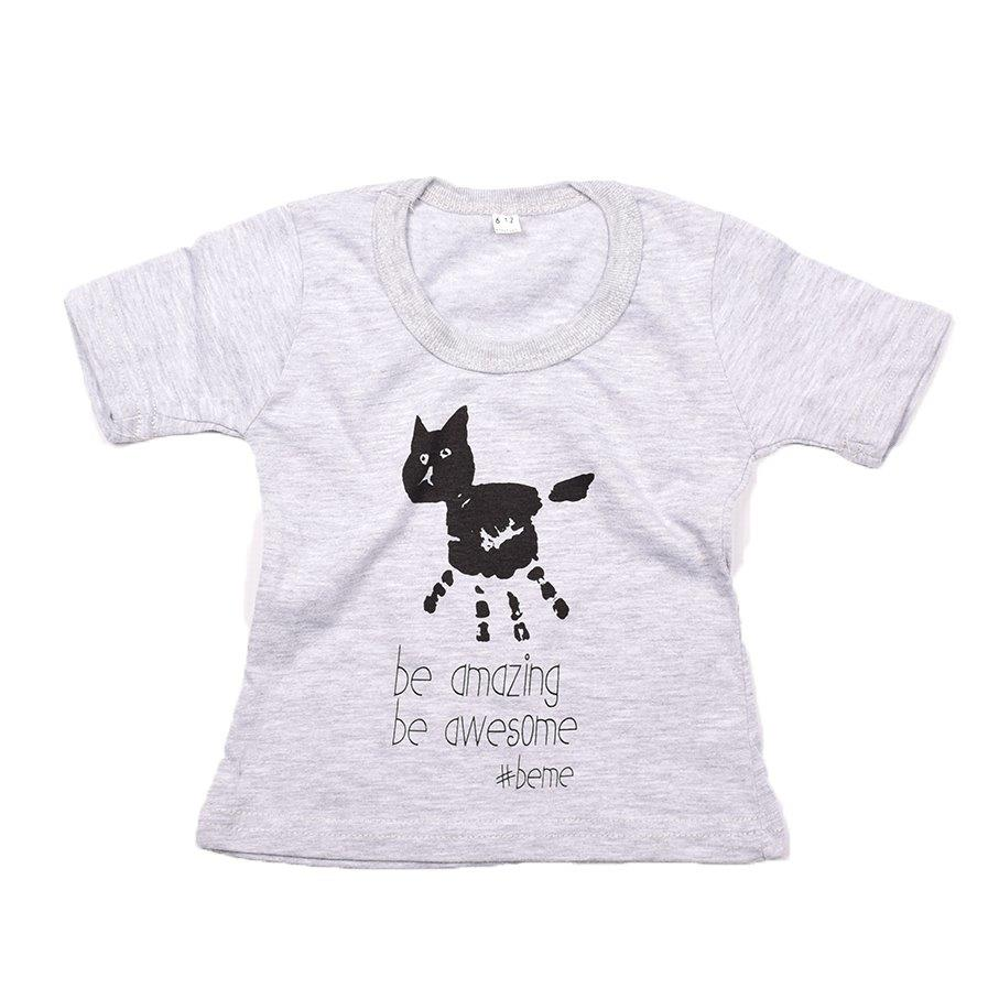 Baby-T Light Grey - Hand Print AMAZING | www.iiilovelocal.com