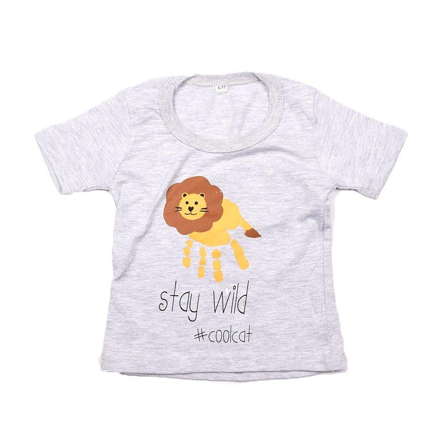 Baby-T Light Grey - Hand Print WILD | www.iiilovelocal.com