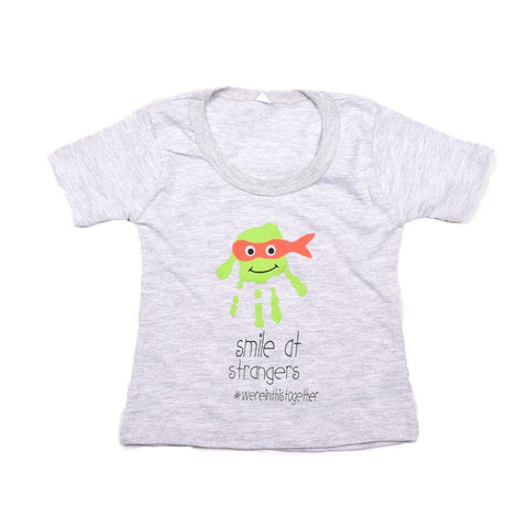 Baby-T Light Grey - Hand Print SAVE