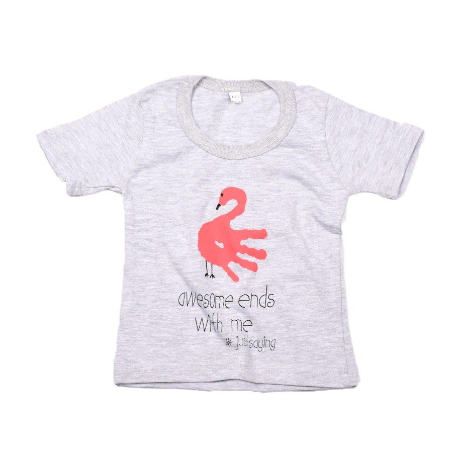 Baby-T Light Grey - Hand Print AWESOME | www.iiilovelocal.com
