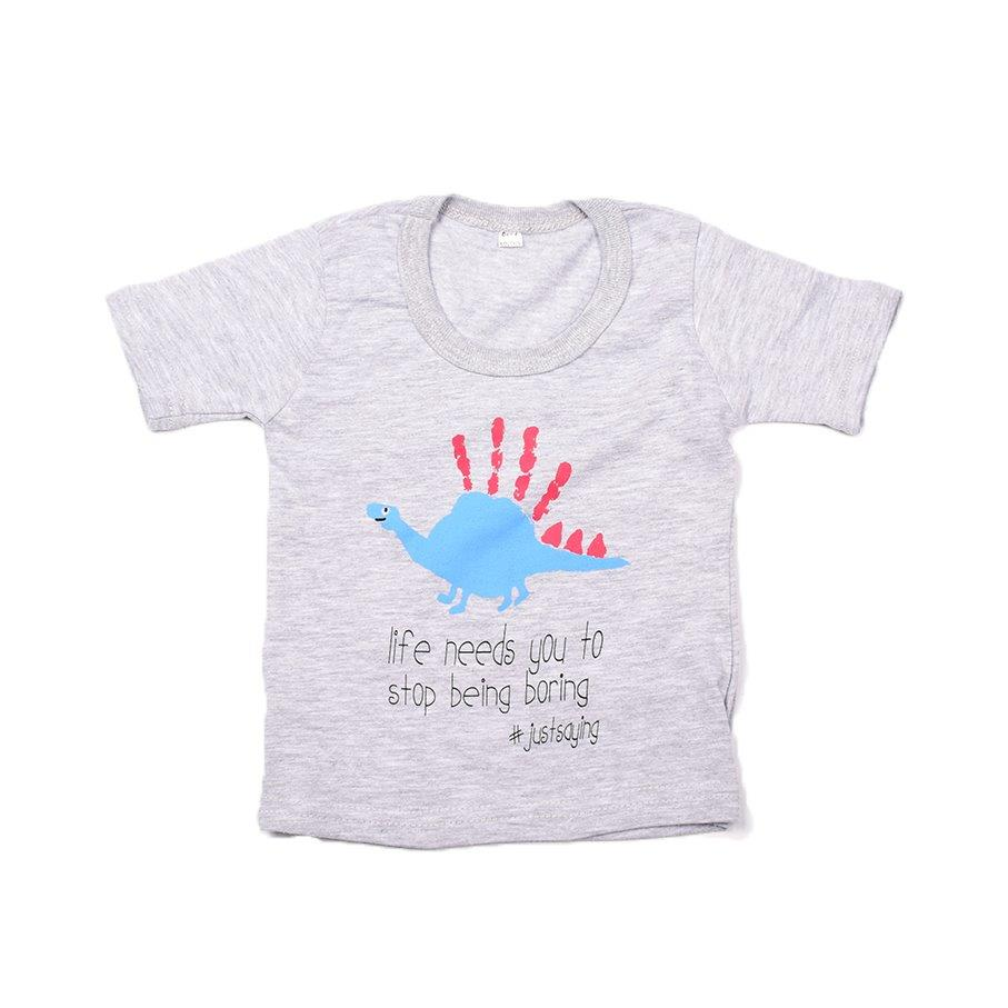 Baby-T Light Grey - Hand Print LIFE | www.iiilovelocal.com