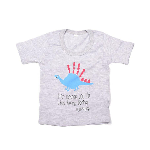Baby-T Light Grey - Hand Print SMILE