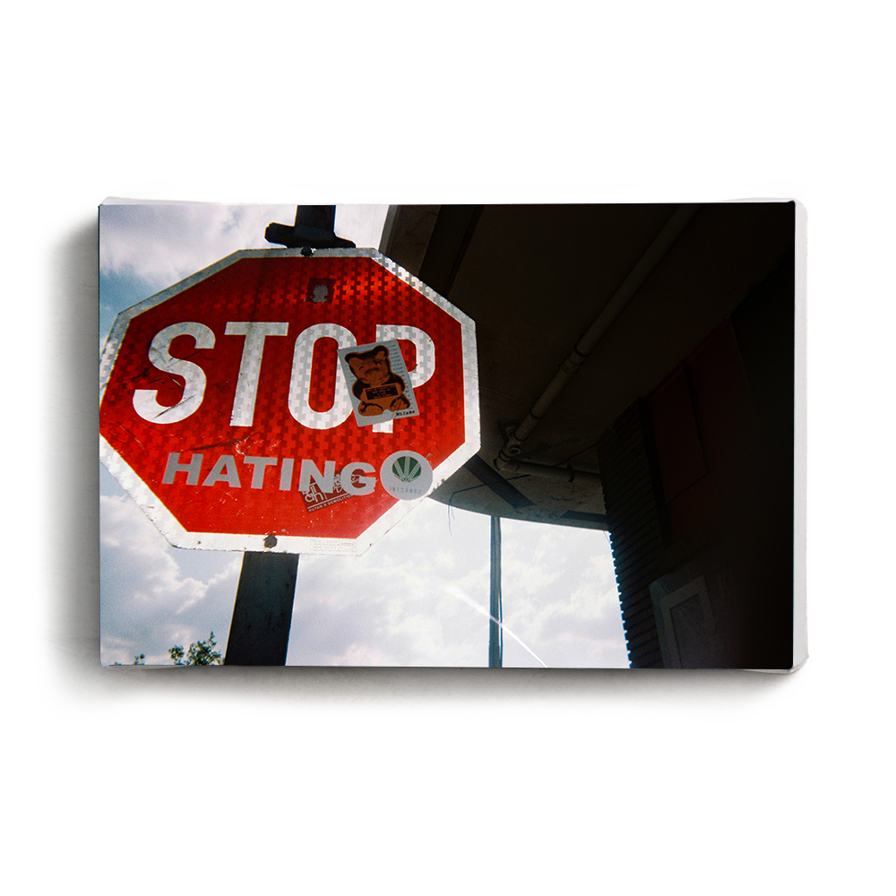 Canvas Print Stop Hating | www.iiilovelocal.com