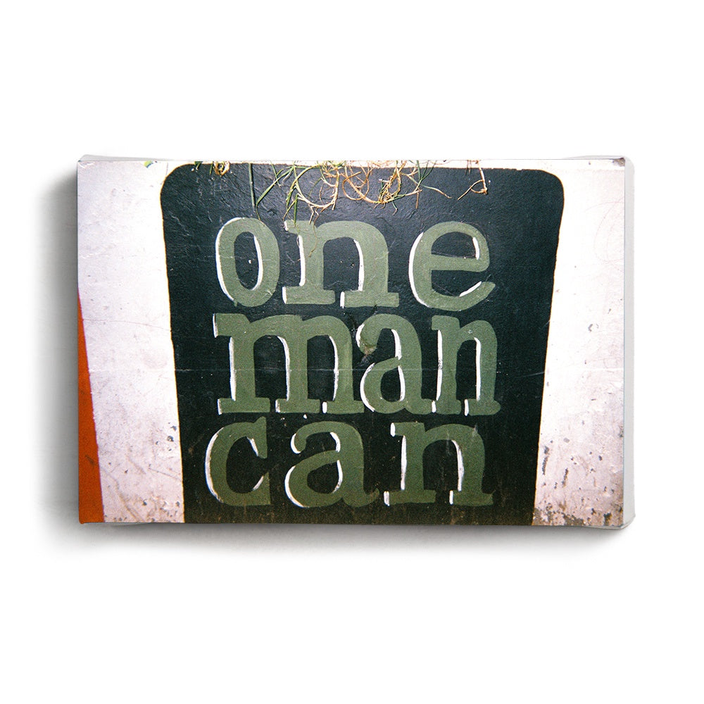 Canvas Print One Man Can | www.iiilovelocal.com