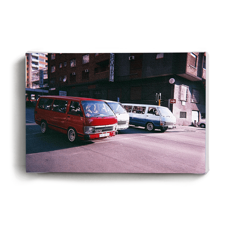 Canvas Print Red Taxi