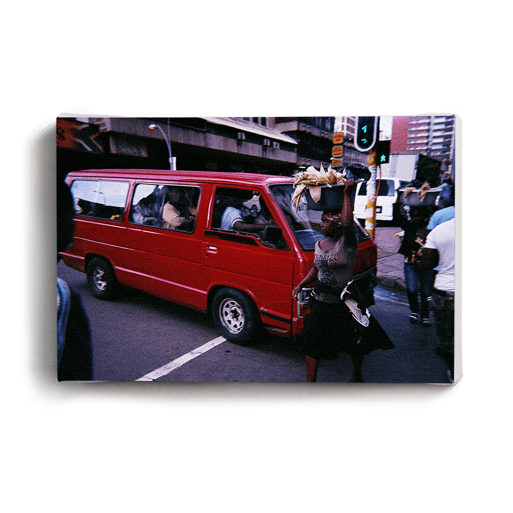 Canvas Print Red Taxi Canvas Print - iiilovelocal
