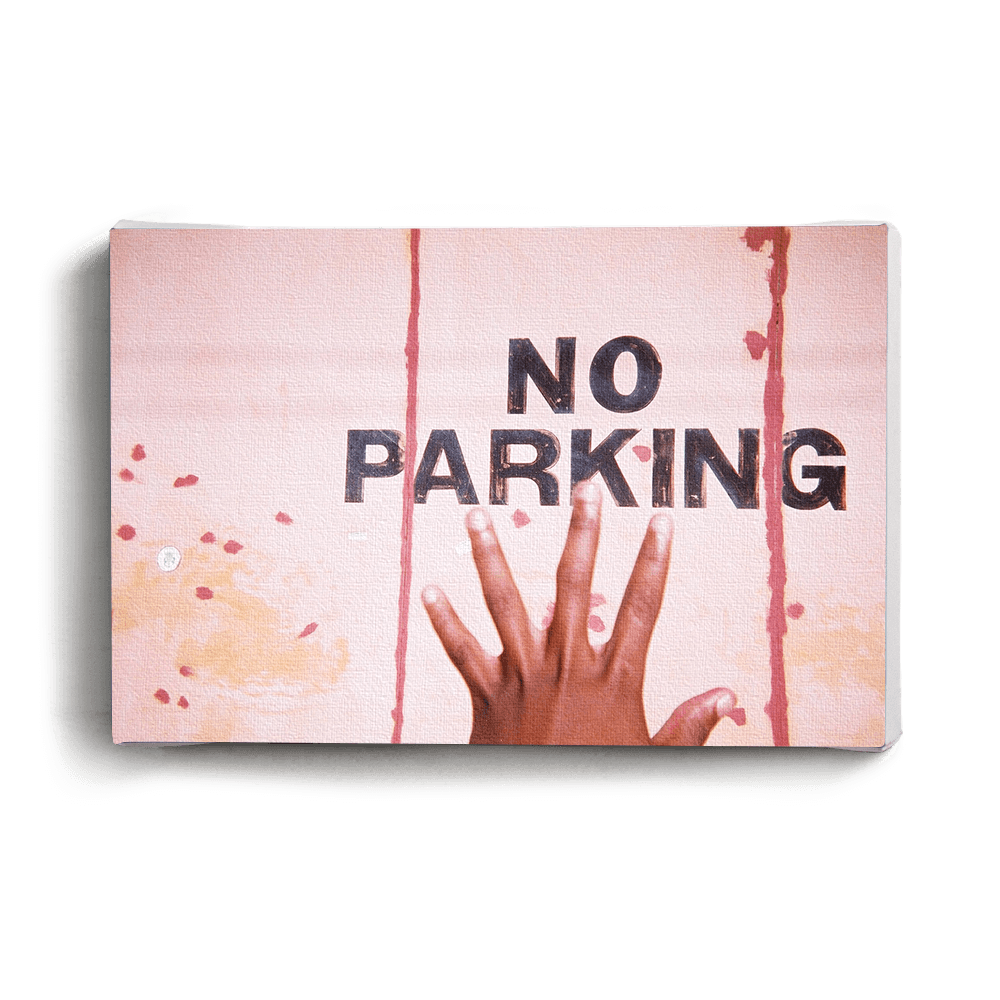 Canvas Print No Parking Canvas Print - iiilovelocal