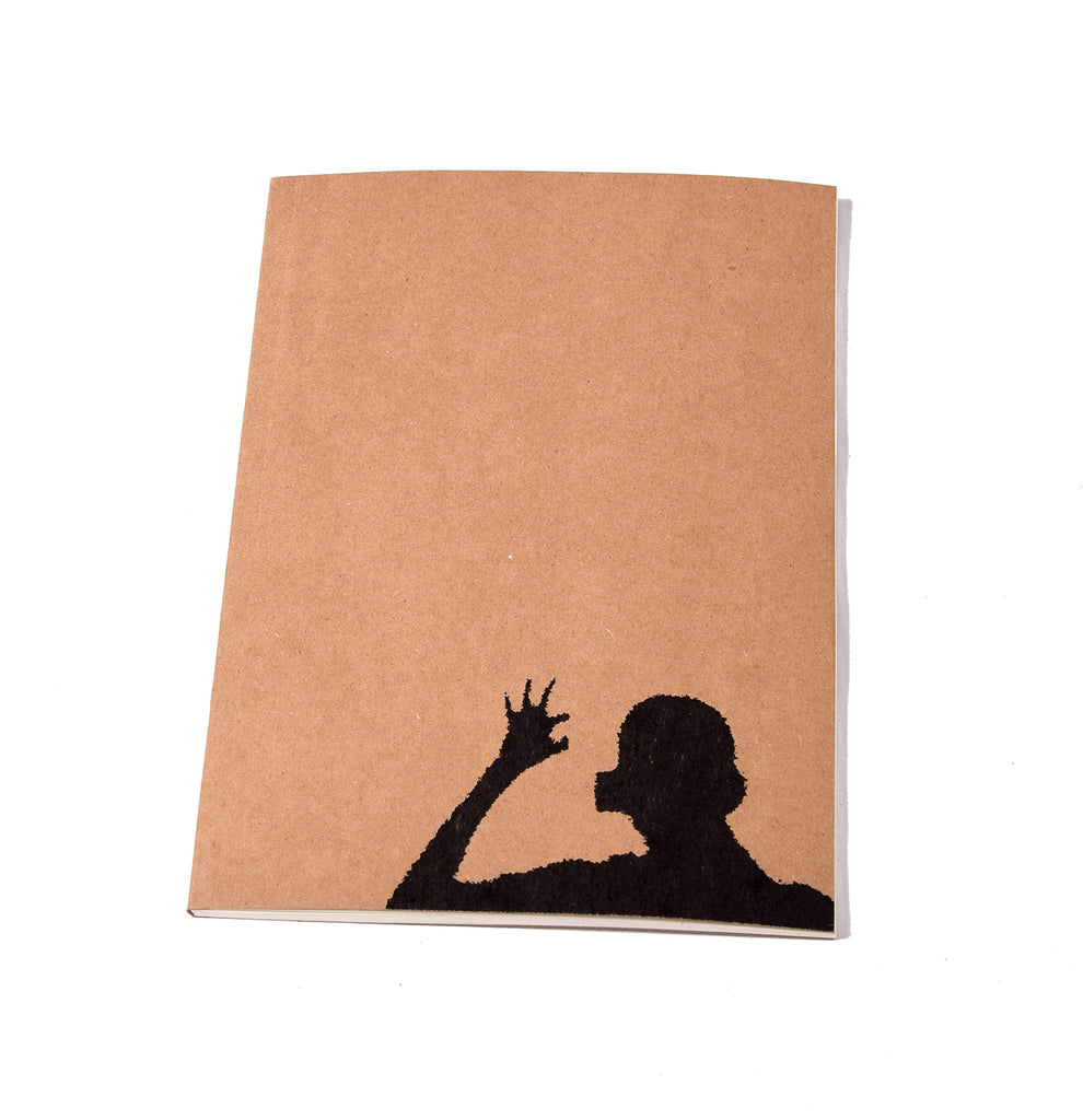 Notebook Brown Floppy Cover Shadow Hand | www.iiilovelocal.com
