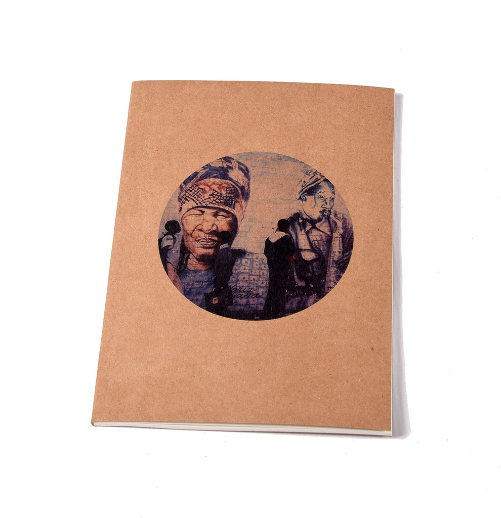 Notebook Brown Floppy Cover Blue Lady | www.iiilovelocal.com